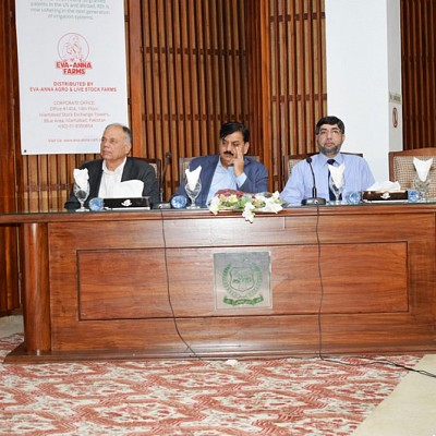 On panel with Lt General Muhammad Agzah, HI (M) who is the National Chairman of the Natural Disaster Management Authority in the Prime Minister's office